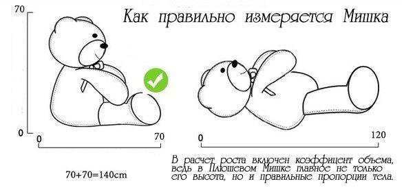 как правильно измерять мишек